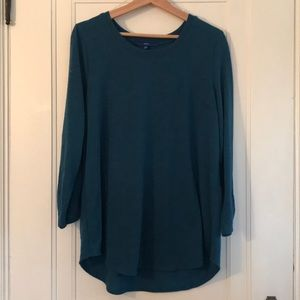Apt 9 teal tunic sweater size XL